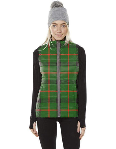 Kincaid Modern Tartan Puffer Vest for Men and Women K7