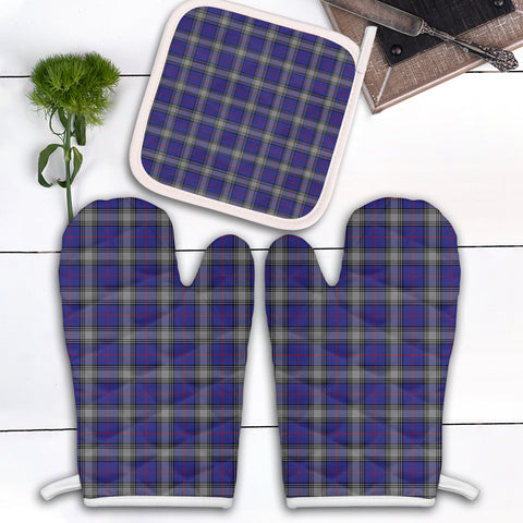 Kinnaird Clan Tartan Scotland Oven Mitt And Pot-Holder (Set Of Two)