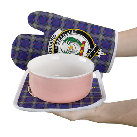 Kinnaird Clan Crest Tartan Scotland Oven Mitt And Pot-Holder (Set Of Two)