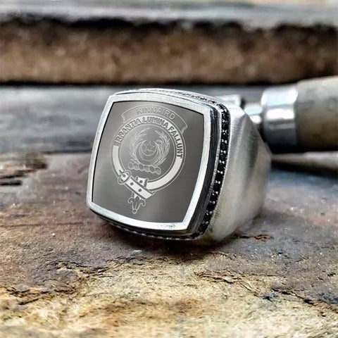 Kinnaird Crest Scottish Clan Special Silver Ring