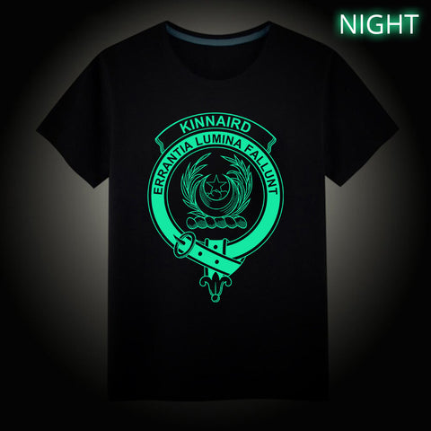 Kinnaird Crest Scottish Clan Luminous T shirt