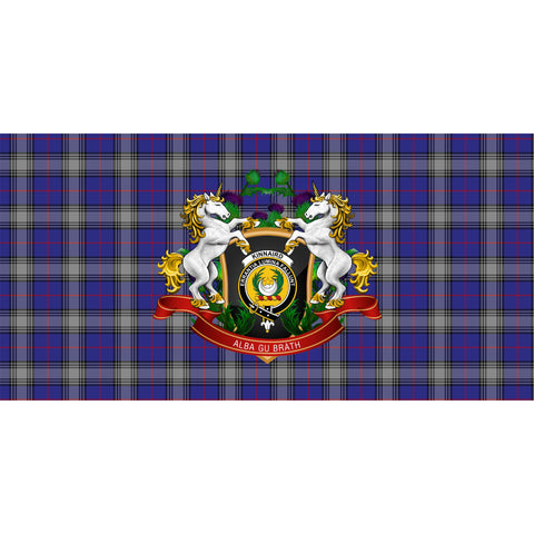 Kinnaird Crest Tartan Tablecloth Unicorn Thistle A30