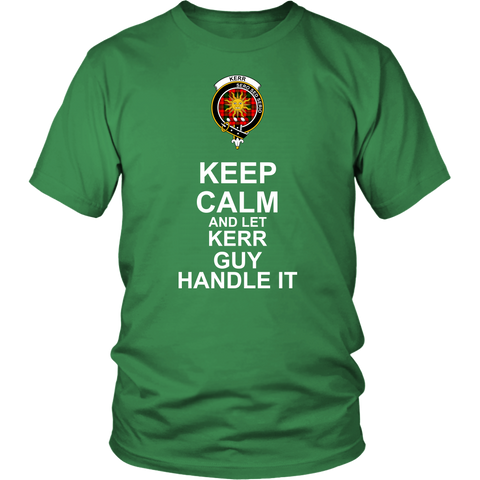 Image of Kerr Tartan Keep Calm Guy T-Shirt K7