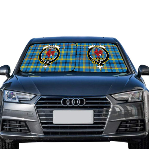 Image of Laing Clan Crest Tartan Scotland Car Sun Shade 2pcs