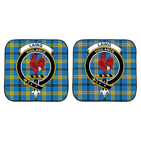 Image of Laing Clan Crest Tartan Scotland Car Sun Shade 2pcs K7