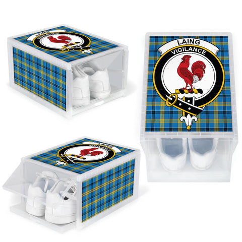 Image of Laing Clan Crest Tartan Scottish Shoe Organizers K9