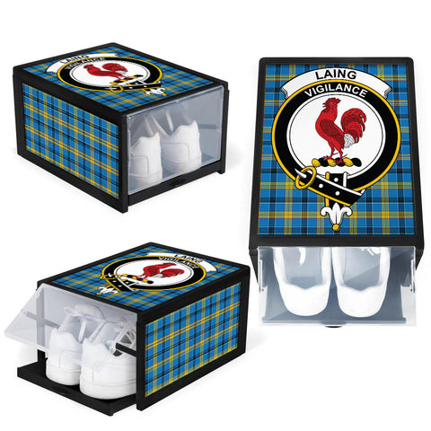 Laing Clan Crest Tartan Scottish Shoe Organizers K9