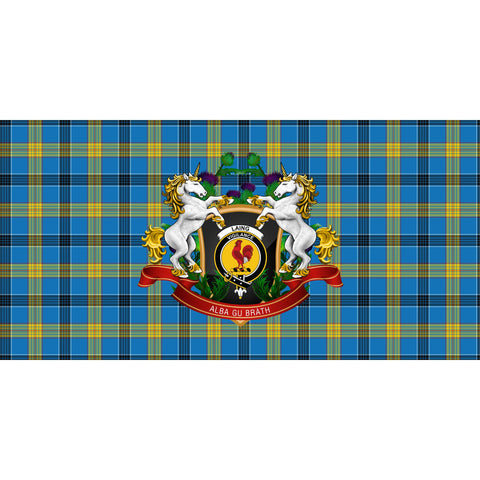 Image of Laing Crest Tartan Tablecloth Unicorn Thistle A30