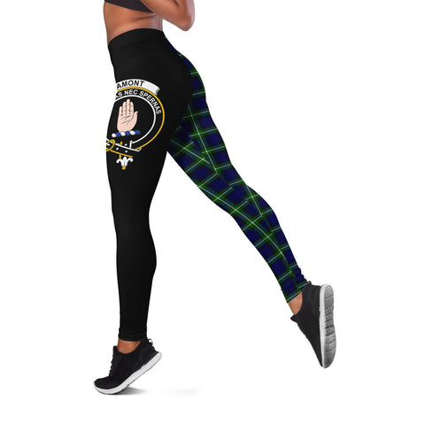 Lamont Modern Crest Tartan Leggings | Over 500 Tartans | Special Custom Design