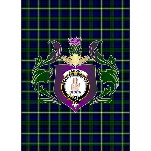 Lamont Modern Clan Garden Flag Royal Thistle Of Clan Badge