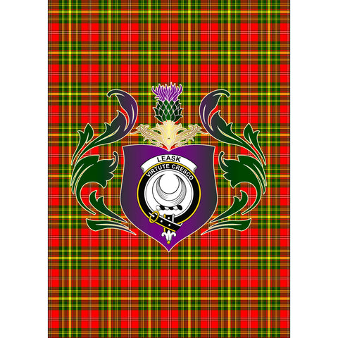 Leask Clan Garden Flag Royal Thistle Of Clan Badge