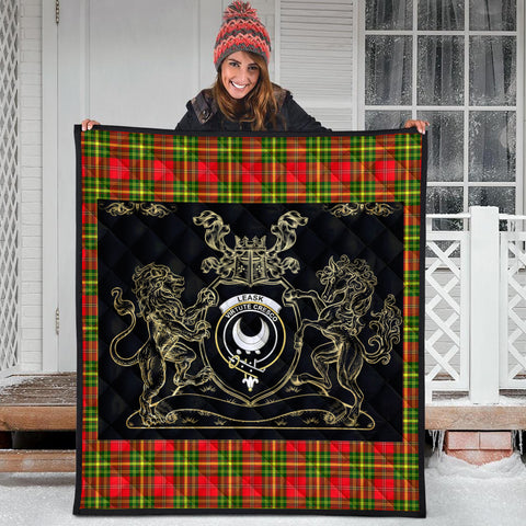 Leask Clan Royal Lion and Horse Premium Quilt
