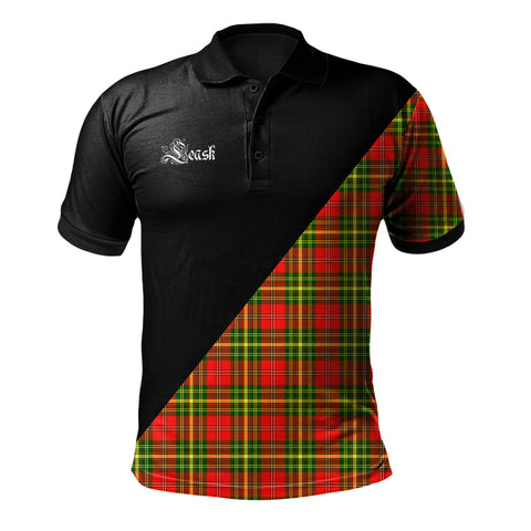 Image of Leask Clan Military Logo Polo Shirt