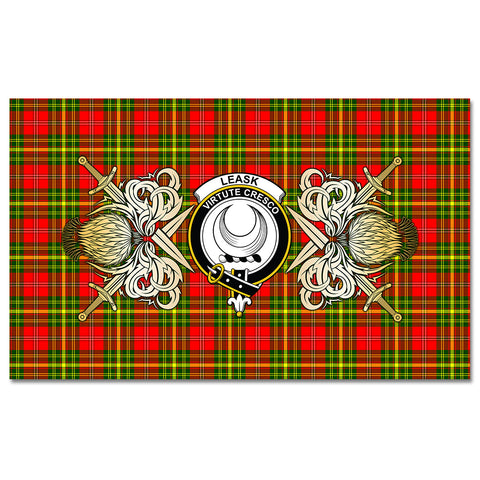 Tablecloth Leask Clan Crest Courage Symbol Special Version