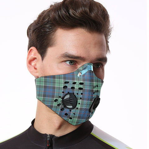 Leslie Hunting Tartan Dust-proof Sports Masks ( Model 1) - TH88 (USA Shipping Line)