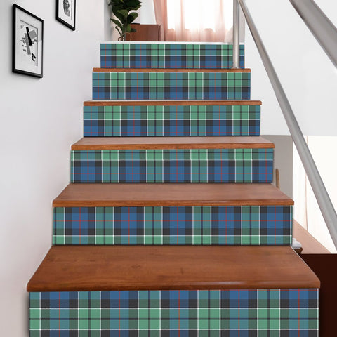 Scottishshop Tartan Stair Stickers - Leslie Hunting Stair Stickers A91