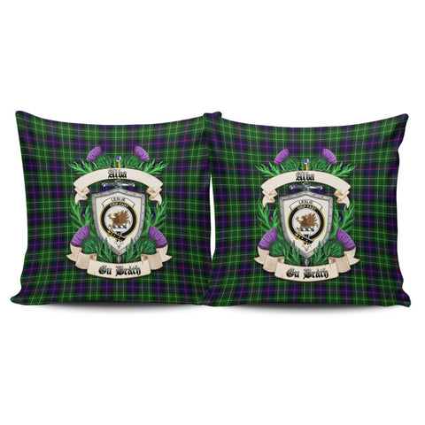 Leslie Hunting Ancient Crest Tartan Pillow Cover Thistle (Set of two) A91 | Home Set