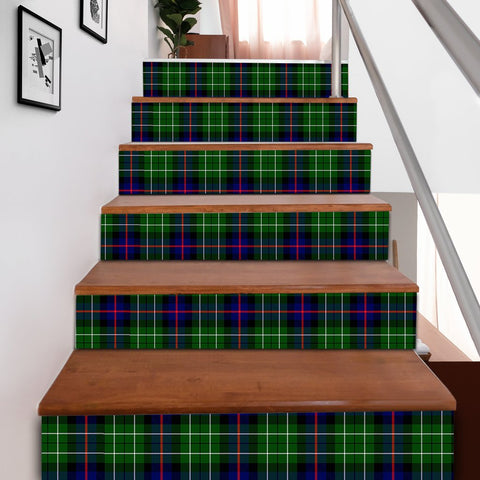 Scottishshop Tartan Stair Stickers - Leslie Hunting Ancient Stair Stickers A91