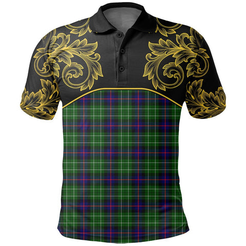 Leslie Hunting Tartan Clan Crest Polo Shirt - Empire I - HJT4 - Scottish Clans Store - Tartan Clans Clothing - Scottish Tartan Shopping - Clans Crest - Shopping In scottishclans - Polo Shirt For You