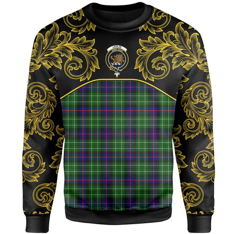 Leslie Hunting Tartan Clan Crest Sweatshirt - Empire I - HJT4 - Scottish Clans Store - Tartan Clans Clothing - Scottish Tartan Shopping - Clans Crest - Shopping In scottishclans - Sweatshirt For You