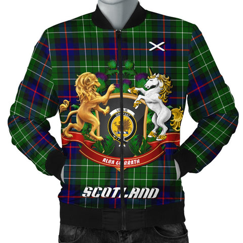 Leslie Hunting | Tartan Bomber Jacket | Scottish Jacket | Scotland Clothing