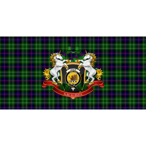 Leslie Hunting Crest Tartan Tablecloth Unicorn Thistle A30