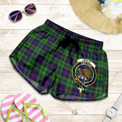 Leslie Hunting crest Tartan Shorts For Women