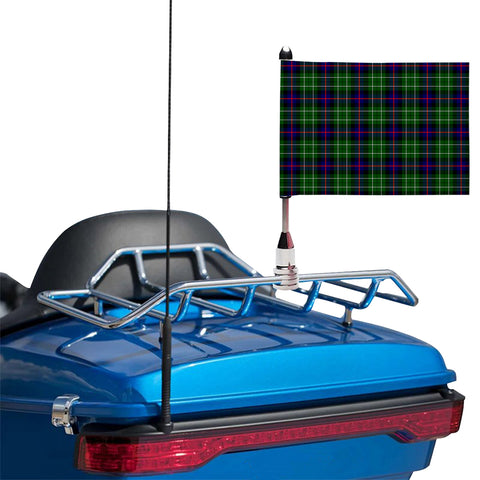Leslie Hunting Clan Tartan Motorcycle Flag