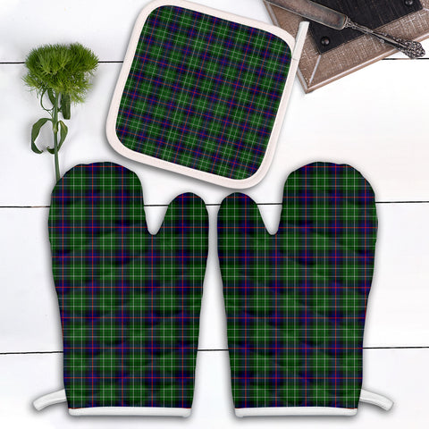 Leslie Hunting Clan Tartan Scotland Oven Mitt And Pot-Holder (Set Of Two)