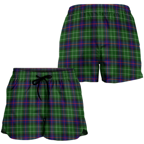 Leslie Hunting Crest Tartan Shorts For Women K7