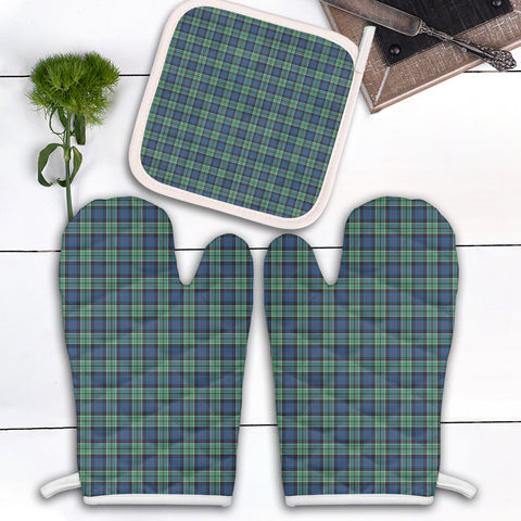 Leslie Hunting Ancient Clan Tartan Scotland Oven Mitt And Pot-Holder (Set Of Two)