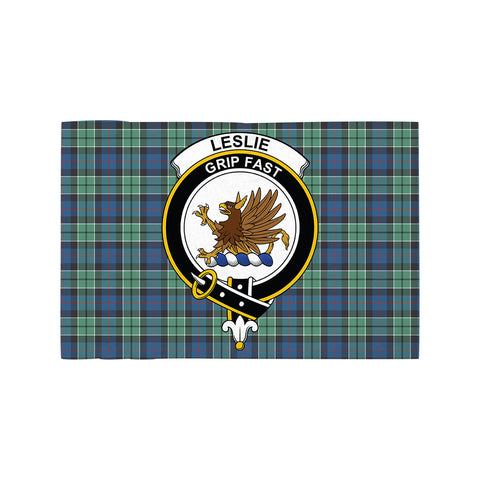 Leslie Hunting Ancient Clan Crest Tartan Motorcycle Flag