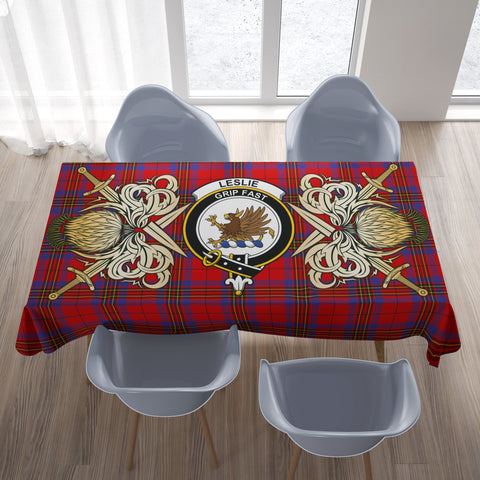 Tablecloth Leslie Modern Clan Crest Courage Symbol Special Version
