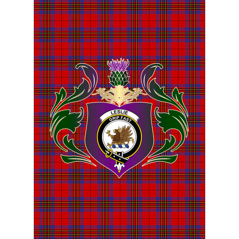 Leslie Modern Clan Garden Flag Royal Thistle Of Clan Badge
