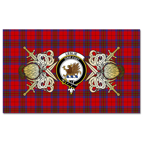 Image of Tablecloth Leslie Modern Clan Crest Courage Symbol Special Version