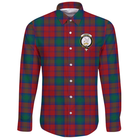 Lindsay Modern Tartan Clan Long Sleeve Button Shirt | Scottish Clan