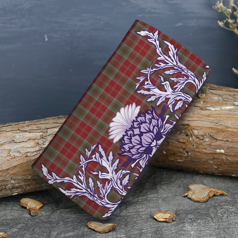 Image of Lindsay Weathered Tartan Wallet Women's Leather Thistle A91