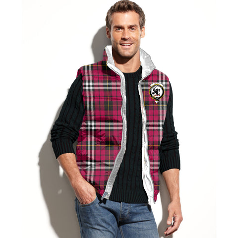 Little Tartan Puffer Vest for Men and Women - Clan Badge K7