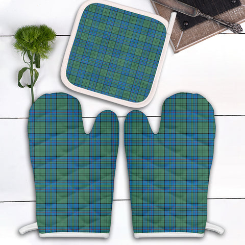 Lockhart Clan Tartan Scotland Oven Mitt And Pot-Holder (Set Of Two)