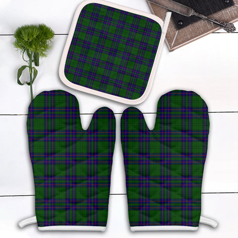Lockhart Modern Clan Tartan Scotland Oven Mitt And Pot-Holder (Set Of Two)