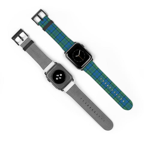 Lockhart Scottish Clan Tartan Watch Band Apple Watch