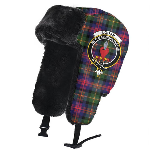 Image of Logan Modern Clan Crest Tartan Trapper Hat