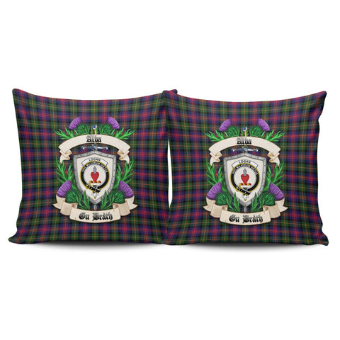 Logan Modern Crest Tartan Pillow Cover Thistle (Set of two) A91 | Home Set