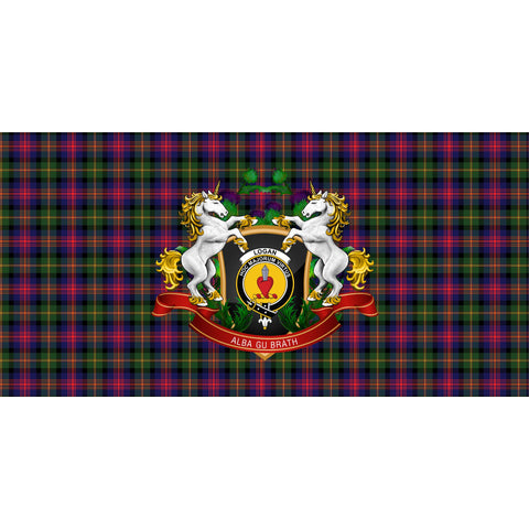 Logan Modern Crest Tartan Tablecloth Unicorn Thistle A30