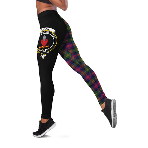 Logan Modern Crest Tartan Leggings | Over 500 Tartans | Special Custom Design