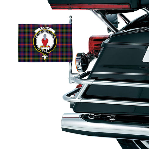 Logan Modern Clan Crest Tartan Motorcycle Flag