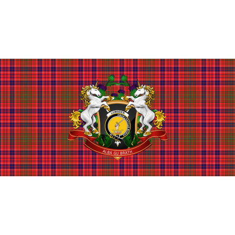Image of Lumsden Modern Crest Tartan Tablecloth Unicorn Thistle A30
