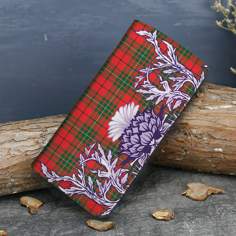 Image of MacAulay Modern Tartan Wallet Women's Leather Thistle A91