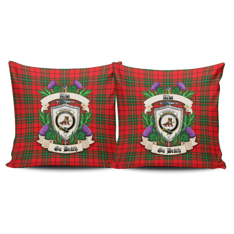 MacAulay Modern Crest Tartan Pillow Cover Thistle (Set of two) A91 | Home Set