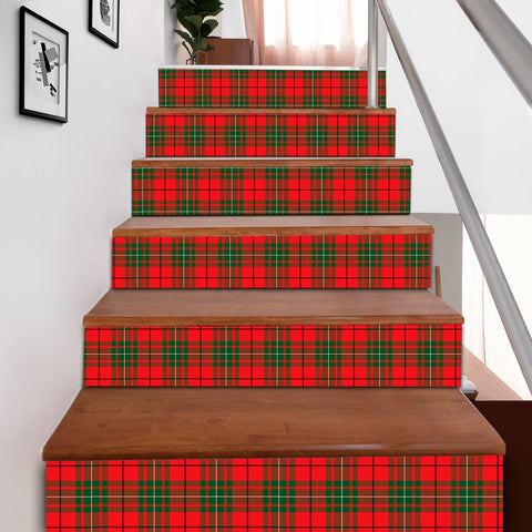Image of Scottishshop Tartan Stair Stickers - MacAulay Modern Stair Stickers A91